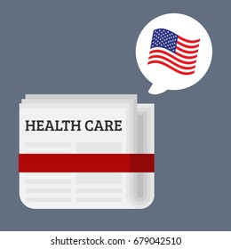US health care vector illustration