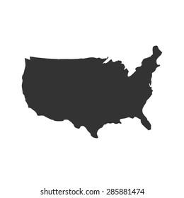 US logo, US icon, US symbol, USA map vector, US MAP VECTOR, UNITED STATES OF AMERICA MAP VECTOR