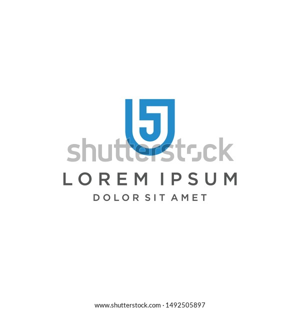 Us Logo Monogram Icon Vector Template Stock Vector Royalty Free 1492505897