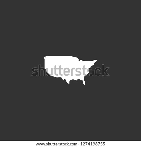 Us Map Icon Vector Us Map | Royalty-Free Stock Image