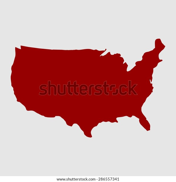 Us Map Red Usa Map Us Stock Vector (Royalty Free) 286557341 Icon Map Of Usa on gold map of usa, fallout map of usa, legend map of usa, clickable map of usa, editable map of usa, label map of usa, diocese map of usa, fire map of usa, doomsday map of usa, inset map of usa, illuminati map of usa,