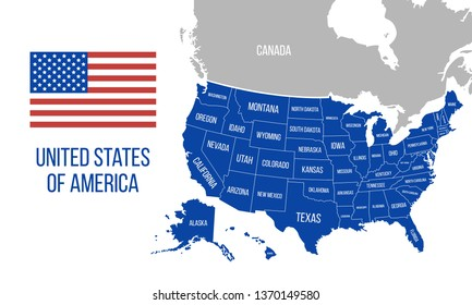 Map of Canada and United States Stock Vectors, Images ...