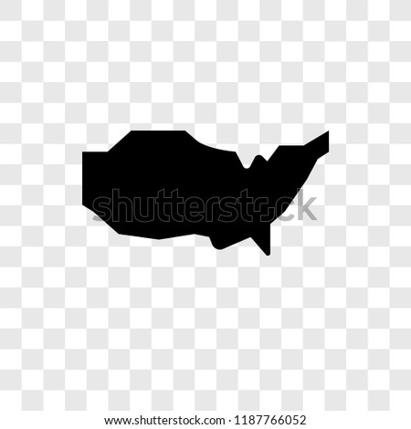 Us Map Vector Icon Isolated On Stock Vector Royalty Free