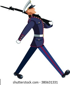 us marine soldier marching