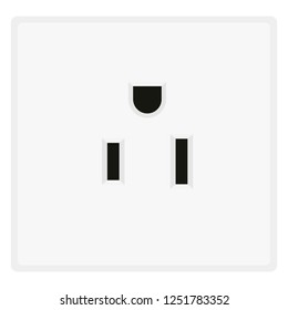 US power socket. Eletrical Outlet Symbol. Vector illustration