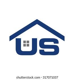 US roof logo vector