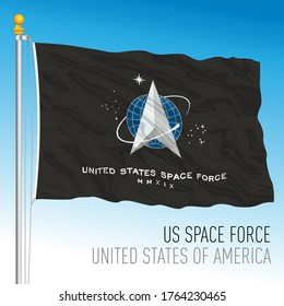 US Space Force official flag, United States, vector illustration