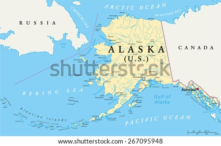 US State Alaska Political Map Capital Stock Vector (Royalty Free ...