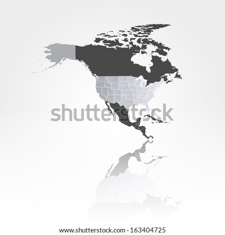 US States Map Against Background North Stock Vector (Royalty Free ...