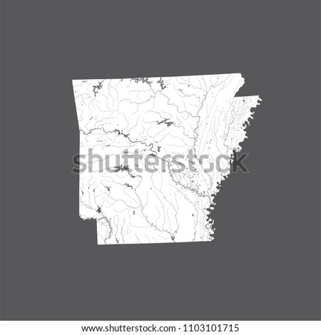 US States Map Arkansas Hand Made Stock Vector (Royalty Free ...
