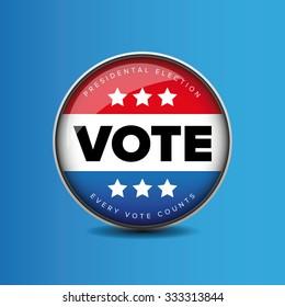 US Vote badge - Presidental election