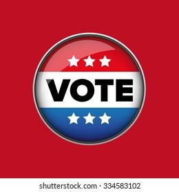 US Vote badge vector