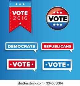 US Vote label vector set