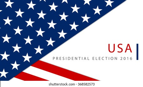 USA 2016 Presidential election poster