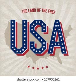 USA abstract poster design, vector, EPS10