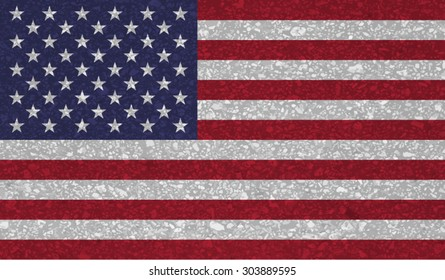 USA; America; United States of America, American flag with grunge texture.Vector template