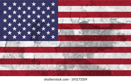USA, American flag on concrete textured background