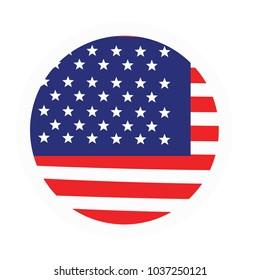 USA American Flag Wave Vector Template