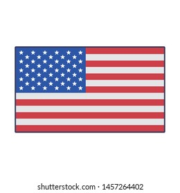 usa american independence 4th july patriotic happy celebration united states flag isolated cartoon vector illustration graphic design