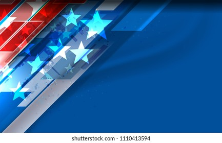 USA background for independence, veterans, labor, memorial day and other events, Vector illustration Design