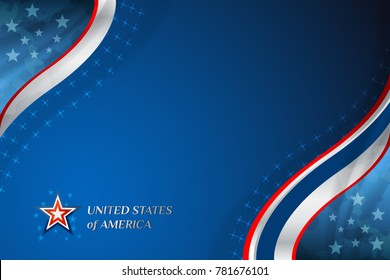 USA background for independence, veterans, memorial day and other events, Vector illustration Design