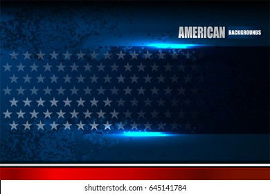 USA background on grunge texture for American Independence Day and other events, Vector illustration