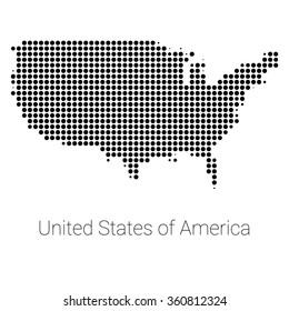 usa border map with black dots creative design usa map usa logo