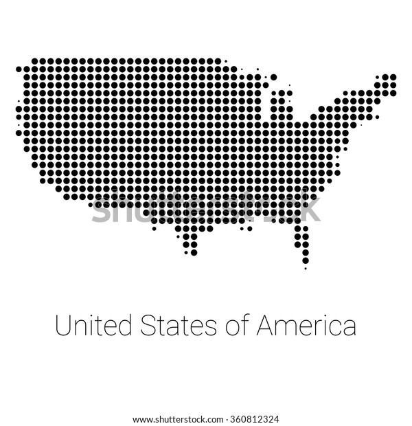 Usa Border Map Black Dots Creative Stock Vector (Royalty ... on usa welcome logo, usa parking logo, google maps logo, united states logo, usa art logo, usa restaurant logo, usa car logo, usa login logo, us states logo, usa letter logo, usa outline logo, usa union logo, education usa logo, north america logo, usa baseball logo, usa travel logo, usa school logo, usa hockey logo, product of usa logo, usa hat logo,