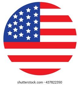 USA button flag vector