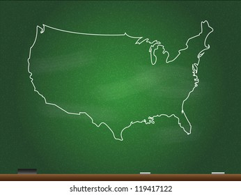 Chalkboard Us Map Images Stock Photos Vectors Shutterstock
