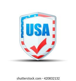 USA checkmark shield