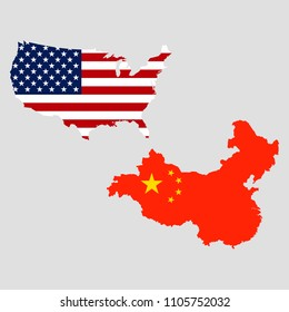 USA and China maps