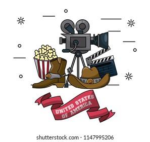 USA cinema emblem
