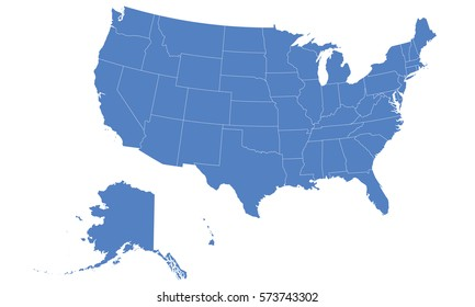Usa map red color stock photo photo vector illustration usa city map blue publicscrutiny Choice Image