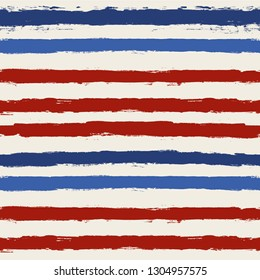 5d4ac0476219 usa color style red and blue striped background. grunge brush lines  seamless pattern. paint
