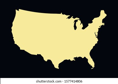 USA colorful vector map silhouette