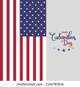 USA Columbus day greeting card, poster and template design. Happy columbus day vector design.