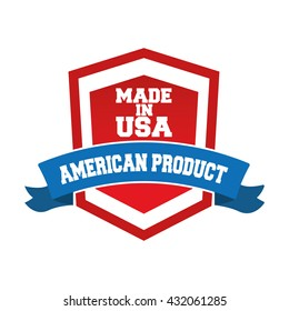 USA concept with icon design, vector illustration 10 eps graphic.