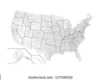 County Map Usa Images, Stock Photos & Vectors | Shutterstock