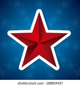 USA design over blue background, vector illustration