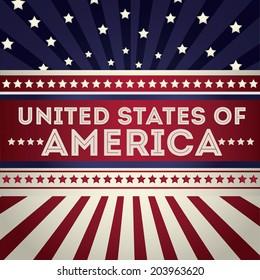 USA design over vintage background, vector illustration