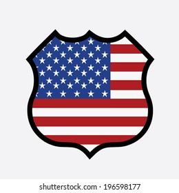 USA design over white background, vector illustration