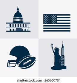 USA design over white background, vector illustration.