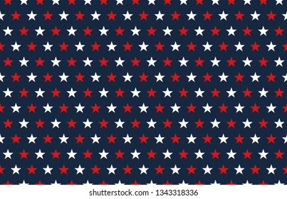 USA election background with stars, decorative pattern.