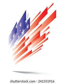 USA flag abstract, eps10 vector graphic