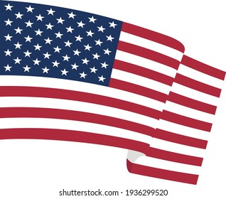 USA flag. The American flag is flying in the wind.