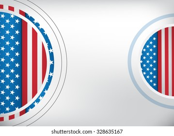USA flag background design with empty white space