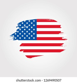 USA flag with brush effect