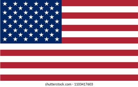 USA flag, colored flat icon with official colors. Element for USA holiday card on 4th of July, Memorial Day or Patriot Day