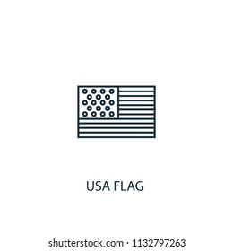 USA flag concept line icon. Simple element illustration. USA flag concept outline symbol design from USA set. Can be used for web and mobile UI/UX
